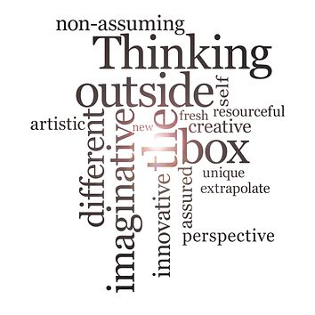Vinyl Wall Decal Think Outside The Box School Words Inspirational Office Space Art Stickers Mural (ig6252)