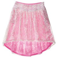Xhilaration® Juniors High Low Neon Lace Skirt - Assorted Colors