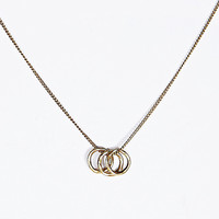 Three Circle Charm Necklace in Gold - Urban Outfitters