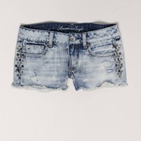 AE Studded Denim Shortie | American Eagle Outfitters