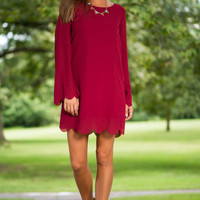 Know Love Dress, Burgundy