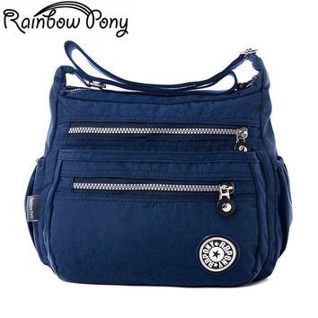 Rainbow Pony Women Nylon Bags For Women Shoulder Bag RBPONY Woman Handbag Multilayer Bags Nylon Messenger Bag Bolsos sac LV06