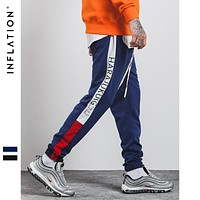 INFLATION 2018 Brand Clothing Causal  Sweatpants Men Streetwear Track Trouser Cotton Fashion Hip Hop Sweatpants 360W17