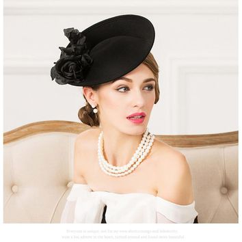 England Style Wool Formal  Fascinator