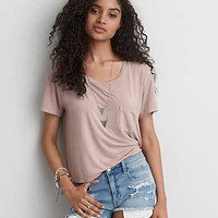 AEO Soft & Sexy Sky High T-Shirt , Light Pink