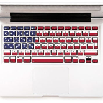 USA Flag US Flag Macbook keyboard stickers Macbook Decal Keyboard Sticker Macbok Air Pro Retina HP Lenovo Samsung Wireless American Flag