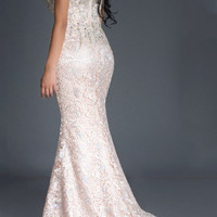 Black Label Couture 16 Jeweled Lace Evening Gown Prom Dress