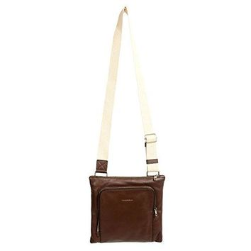 Dolce & Gabbana Brown Leather Adjustable Strap Men's Crossbody Bag