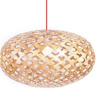 Modern Ceiling Pendant Lighting Wooden Weaved Snowflakes