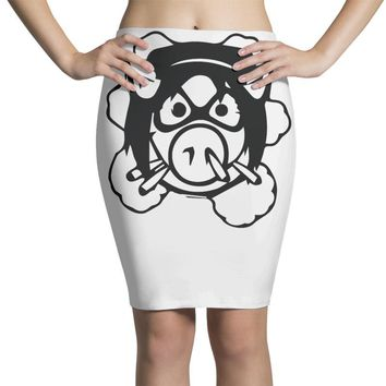 pig wheels angry Pencil Skirts