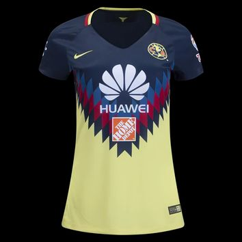 KUYOU Mexico Club America 2017/18 Home Women Soccer Jersey Personalized Name and Number