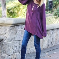 Stay for a While Plum Top