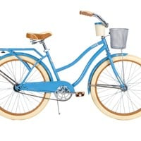 Huffy Bicycle Company Women's Cruiser Deluxe Bike, Vintage Blue