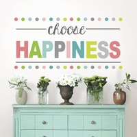 Choose Happiness Boho Wall Quote Decal