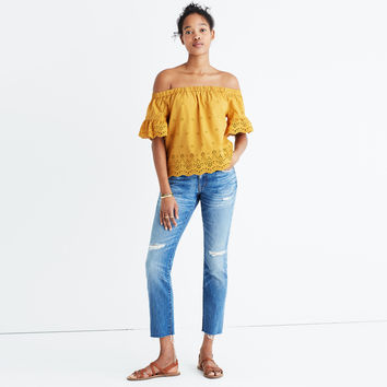 Eyelet Off-the-Shoulder Top : shopmadewell AllProducts | Madewell