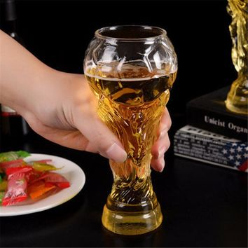 450ml Transparent Football World Cup Design Glass Crystal Whiskey Wine Juice Coffee Water Beer Glass Cup Mug Bottle Drinkware
