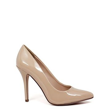 Boss Lady 4 Nude Patent Leather Womens High Heel Pumps
