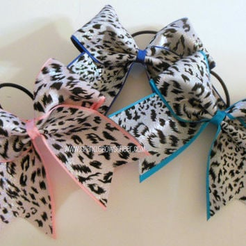 Cheetah Colors Large Cheer Hair Bow Cheerleading