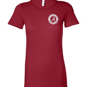 Official NCAA Venley University of Alabama Crimson Tide UA ROLL TIDE! Est 1831 Ladies Favorite Tee - 35AL-16