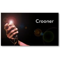 Simple Musician Business Card: Crooner from Zazzle.com