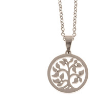 Stainless Steel Charm Necklace Tree of Life