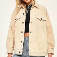 BDG – Cordjacke in Creme | Urban Outfitters