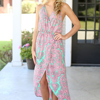 Prize Winner Hi Low Maxi - Pink and Mint