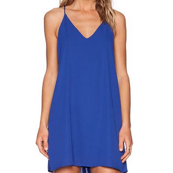Three Eighty Two Tanner Slip Mini Dress in Royal