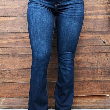 Bell Bottom Cutie: Dark Denim