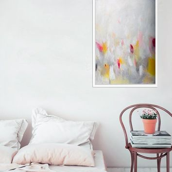 Acrylic Abstract Painting Colorful Wall Art, abstract wall art, geometric abstract art, by CamiloMattis