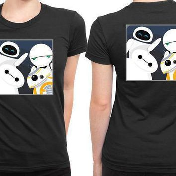 Baymax And Friends Selfie 2 Sided Womens T Shirt