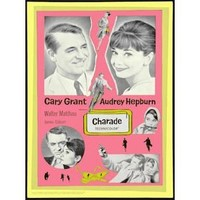 Charade Movie Poster 1963 - Cary Grant Audrey Hepburn