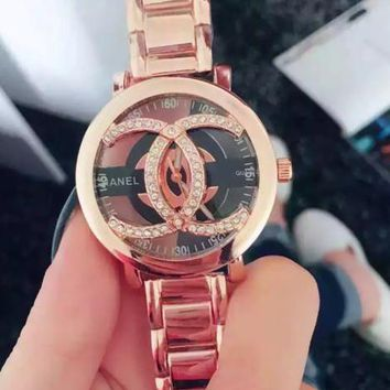 """CHANEL"" Lady Watch Luxury Diamond Quartz Watch Wristwatch B-XHSS-SBHY Rose Gold"