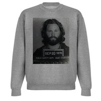 Jim Morrison Mugshot Sweatshirt. Small to X-L.
