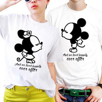 And We Lived Happily Ever After Disney Quotes Couples Matching Shirts, Couples T Shirts, Funny Couple Shirts