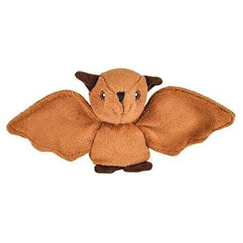 Wildlife Tree 3.5 Inch Bat Mini Small Stuffed Animals Bulk Bundle of Zoo Animal Toys or Forest Animal Party Favors for Kids Pack of 12
