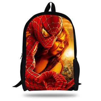 6e68e423a66b 16-inch New Kids School Bags SpiderMan Backpack Superheroes Cartoon  Children School Backpacks For Boys