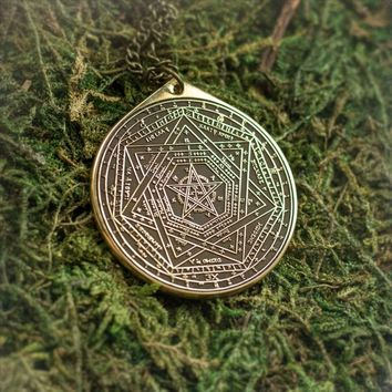 Enochian Great Tablet Seal of Truth Sigillum Dei Ameth Solomon kabbalah amulet pendant