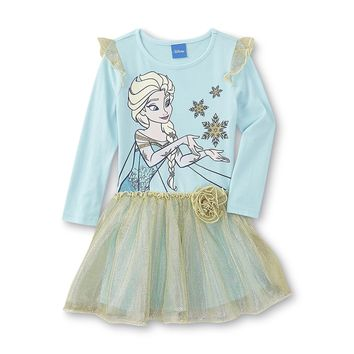 New Frozen Toddler Girl's Party Dress with Elsa