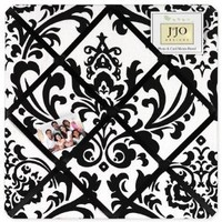 Black and White Isabella Fabric Memory/Memo Photo Bulletin Board by Sweet Jojo Designs