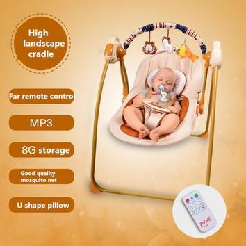 2017 Real Direct Selling Electric Baby Bassinet Berceau Ppimi Auto Electricity Swing Baby Cradle 0~2 Years Help Sleep Fast