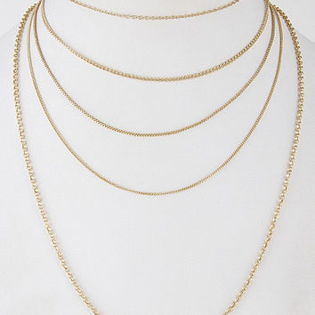 Layers of Golden Love Necklace