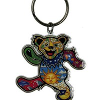 Grateful Dead - Psychedelic Dancing Bear Keychain
