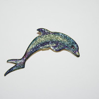 Vintage Dolphin Brooch / Pin 2.5 inches | Ships FREE in US