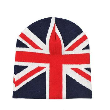 ONETOW Perfect Flag Pattern Women Men Hip Hop Beanies Winter Knit Hat Cap