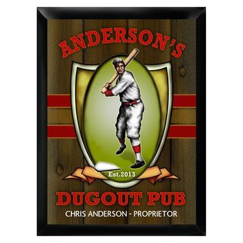 Personalized Traditional Pub Sign - Dugout