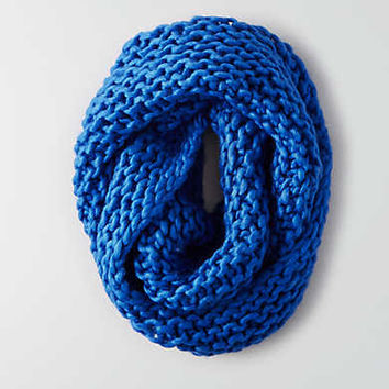AEO Wool Twist Front Snood , Blue