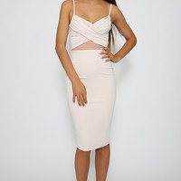 Nookie - Modern Muse Twister Bustier Dress - Milk