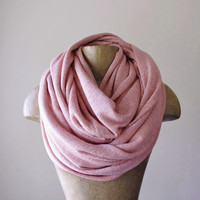 CARNATION PINK Scarf - Oversized Chunky Knit Scarf - Cozy Fashion Scarf - Winter Accessories for Women