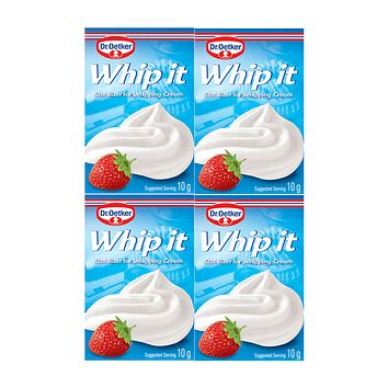 Dr Oetker Whip It Whipped Cream Stabilizer, 4 Packs (4 x 0.3 oz)